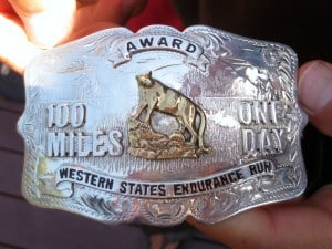 The Western States silver buckle