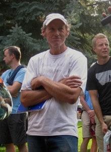 Race director Leland Barker