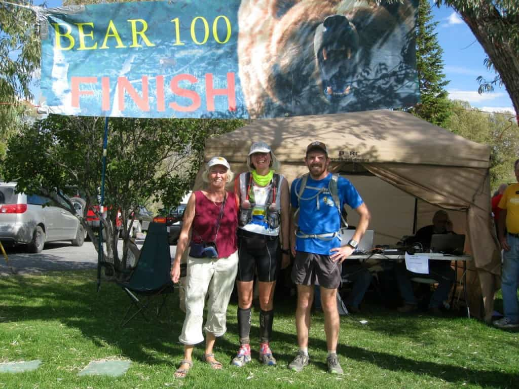 With mom and Joe Furse at the finish